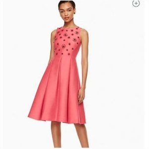 kate spade embellished fit and flare dress 8 nwt
